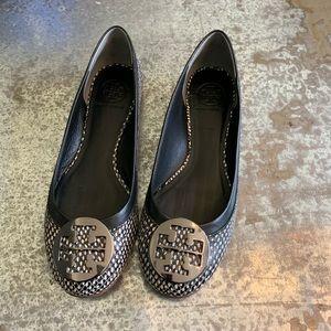 Tory Burch Reva Polka Dot Snake Flats Size 9
